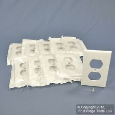 10 Leviton UNBREAKABLE White Receptacle Wallplate Duplex Outlets Covers 80703-W