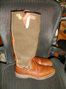 Browning Leather riding equestrain tall riding boot 10D oil resisting vibram
