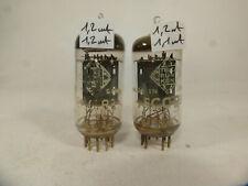 Two ECC83 12AX7 Telefunken TFK <> base, pair tube tested strong & near nos