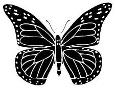 Unmounted Rubber Stamp Solid Butterfly
