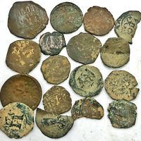 17 Authentic Ancient And/Or Medieval Coin Artifacts - Copper - From South Europe
