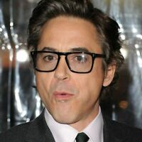Robert Downey Optical Frame Black Strom Gray Top Acetate Glasses Eyeglasses Man