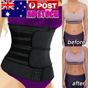 AU Waist Trainer Cincher Trimmer Sweat Belt Slimming Body Shaper Sauna Shapewear