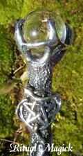 Pentacle Goddess Wand - Clear Quartz (Willowroot Wand)