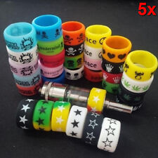 5PCS Punk Rock Silicone Rings Sports Band Rubber Flat Vape Accessory Fashion