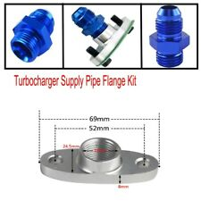 NPT Thread Turbo Oil Inlet  Turbocharger Supply Pipe Flange Kit Adapter M8x1.25