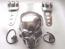 CRACKED SKULL BOBBER,CUSTOM CHOPPER MOTORBIKE +LED LIGHTS & S/STEEL BRACKETS.