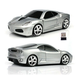 Hot Gift Cordless 2.4Ghz Wireless Optical Car Mouse PC Laptop Mice +USB Receiver