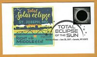St. Joseph, Missouri. Right in the Middle.. Total Solar Eclipse of the Sun. FDC