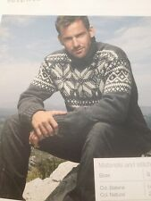 Mens(S,M,L,XL,XXL)Scandinavian Style Sweater Knitting Pattern