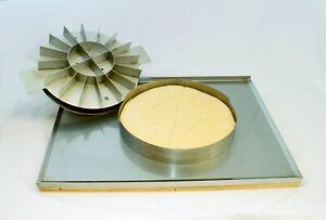MANZ Teigteiler aus hochwertigem Edelstahl 32,5 cm Ø für 20 gleichmäßige Stücke