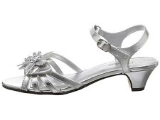 Silver Girls Sandals Adjustable Tops  Small Marlene YOUTH Girls Size 6