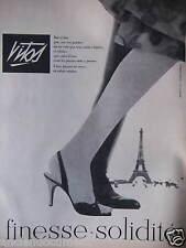 PUBLICITÉ PRESSE 1958 BAS VITOS FINESSE ET SOLIDITÉ - TOUR EIFFEL - ADVERTISING
