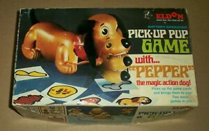 Vintage Pick-Up Pup Game Pepper The Dog Eldon Toy 1969 Battery Op (Not Working)