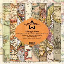 New Dixi Craft  Paper Favourites 15cm x 15cm Paper Pad Vintage Maps
