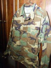 US Military Men's Combat Jacket Shirt Woodland Camo BDU SMALL REGULAR