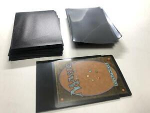 Lenayuyu 100pcs Black color Protector Standard MTG Card Sleeves 66x91mm Glossy