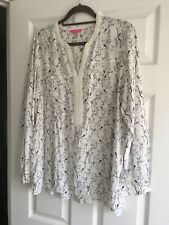 Joules ladies popover tunic shirt with bunny print size 18