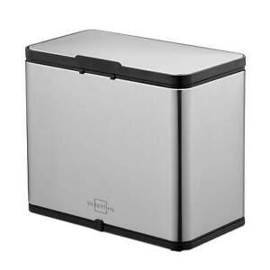 4er Set Mülleimer Küche 4x25L Behälter Papierkorb Abfalleimer Grau Biomülleimer