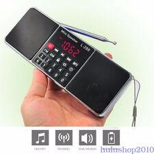 Mini LCD FM Radio Stereo Speaker MP3 Music Player Micro SD TF USB Accessory