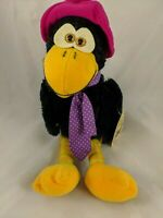 "Russ Calvin Crow Bird Plush 14"" 497 Vintage Stuffed Animal Toy"