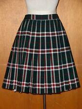 Dennis Girl's green plaid pleated uniform skirt size 14 Regular - New