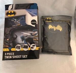 BatMan theme  3-Piece Twin Sheet Set  with Bonus Facemask