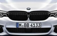 GENUINE BMW M PERFORMANCE G30 G31 FRONT BLACK HIGH GLOSS KIDNEY GRILLES 5 SERIES