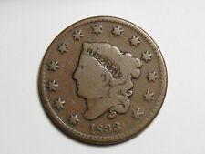 1833 Large Cent - Liberty Matron Coronet Head