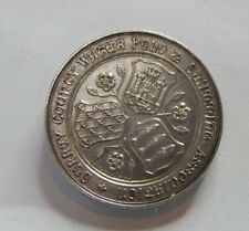 More details for solid silver surrey county water polo 7 swimming association medallion 1931