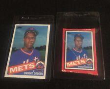 1985 Topps #620 Dwight Gooden & Dwight Gooden Box Cut   **05482