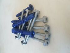 Coach fixings screws / bolts timber wood masonary and plugs .....80mm long