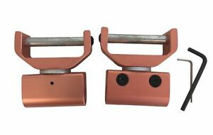"""BLACK Nylon Shell Western Stirrup Turners or Straighteners 3/"""" Neck Size PAIR"""