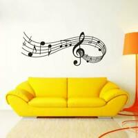 Music Notes Removable Wall Stickers Decals Vinyl Wall Home-Decor DIY Band R V1T5