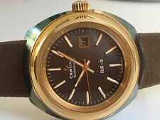 CERTINA DS-3 Automatic 20M Gold *NOS, BROWN Dial 1976/1978* FEMALE Version