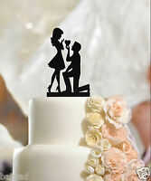 Fiance & Fiancee Engagement Cake Toppers - high quality acrylic