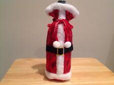 St. Nicholas Square Sequin Santa Suit Wine Bottle Bag