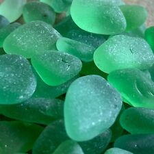 Genuine Surf Tumbled Sea Glass - Water Droplet Lot - Green/Aqua Light Colors