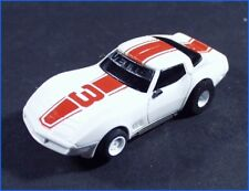 VINTAGE TYCO CORVETTE #3 WITH SIDE MIRRORS WHITE & RED, HO SLOT CAR