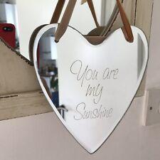Vintage Chic Hanging Heart Boudoir Mirror