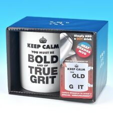 Keep Calm You Old Git Heat Change Novelty Fun Mug