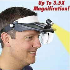 4 Lenses Magnifier Headset led Head Band Lighted Magnifying Glass 4x Low Vision