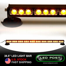"AMBER Emergency 30 LED Super Bright Warning Strobe Light Bar 90W ROOF TOP 38.5"""