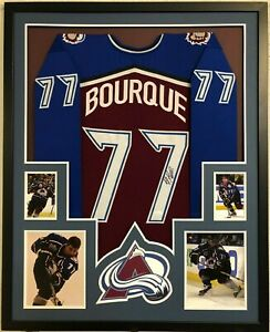 FRAMED COLORADO AVALANCHE RAY BOURQUE AUTOGRAPHED SIGNED JERSEY JSA COA