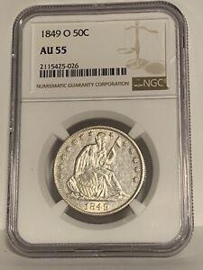 1849-O Seated Liberty Half Dollar NGC AU 55 -