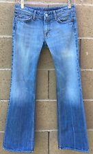 7 FOR ALL MANKIND WOMEN JEANS FLYNT BOOTCUT SIZE 27 LOW RISE ZIP FLY STONEWASHED