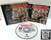 Resident Evil ~ Sony PlayStation PS1 Black Label Game ~ PAL *Disc Excellent CIB*