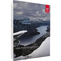 Adobe Photoshop Lightroom 6 for Windows & Mac - Full Version - NEW