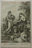 """KUPFERSTICH """"DER TODTENTANZ"""" Fr. Kind vor 1820 ca. 7 x 11 cm H. Ramberg W. Böhm"""