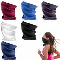 6 Pack Face Coverings Multifunctional Snood Headwear Bandana Scarf Tube Unisex